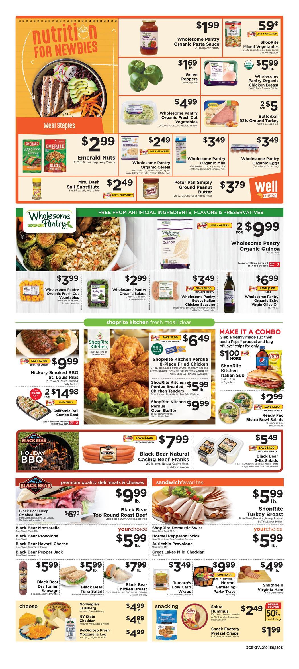 Shoprite Weekly Ad Sep 01 Sep 07 2019