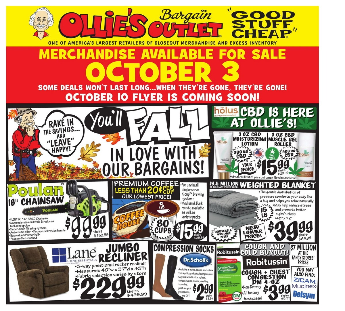 Ollie's Weekly Ad Oct 3 – Oct 9, 2019