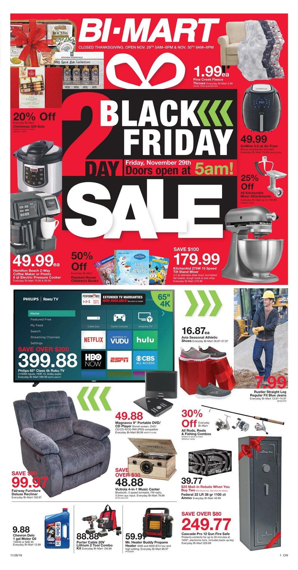 Bi Mart Black Friday Sale Nov 28 Nov 30 2019