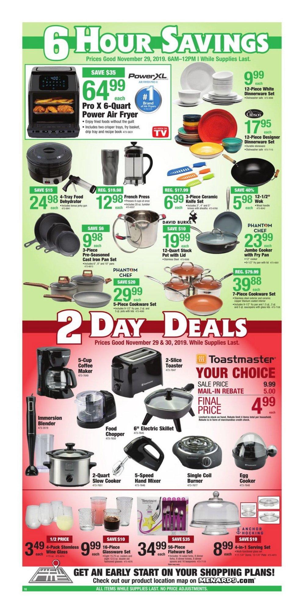 Menards Black Friday Sale Nov 29 Nov 30 2019