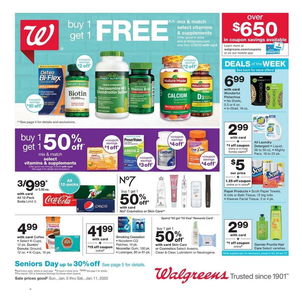 Walgreens Weekly Ad Jan 05 Jan 11 2020
