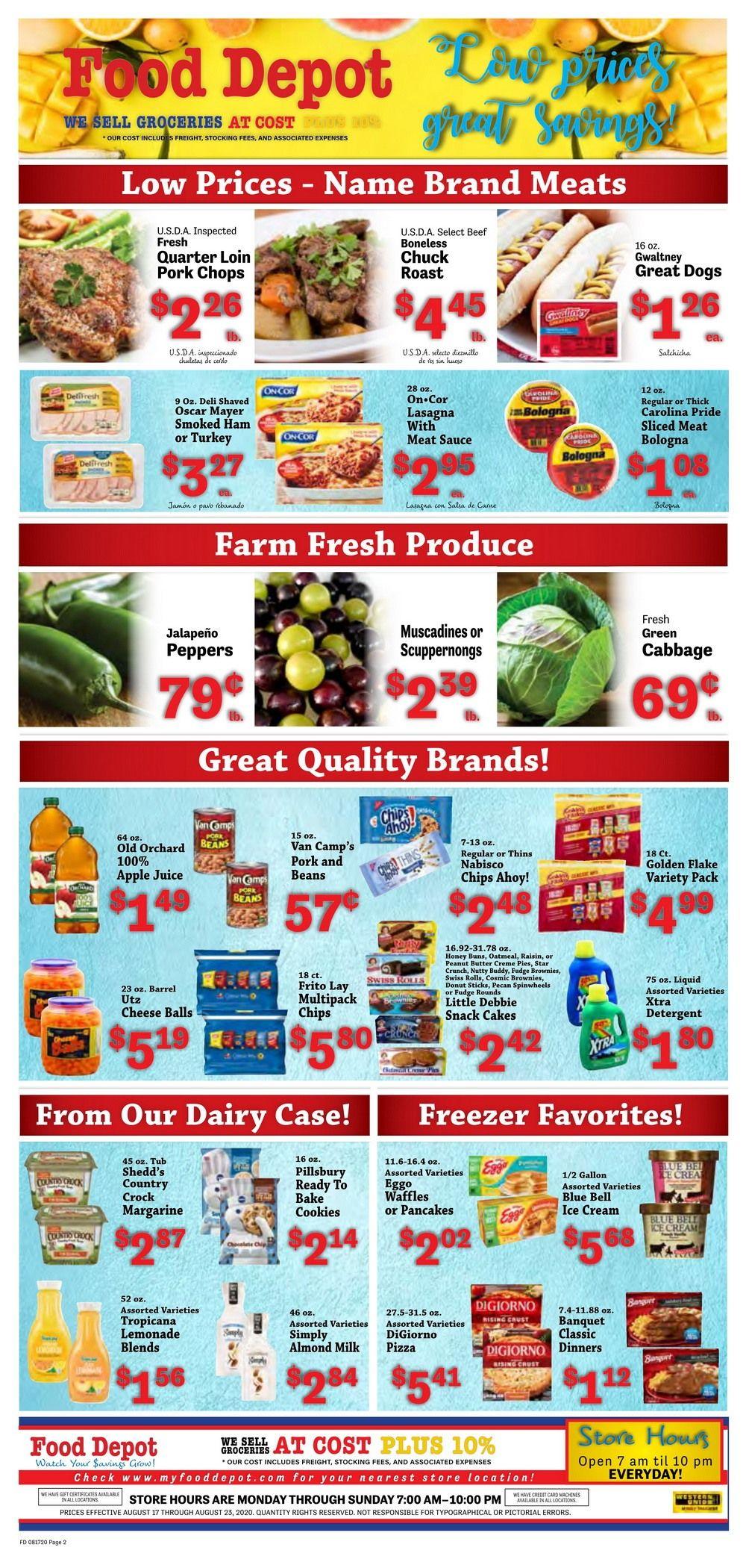 Food Depot Weekly Ad Aug 17 - Aug 23, 2020