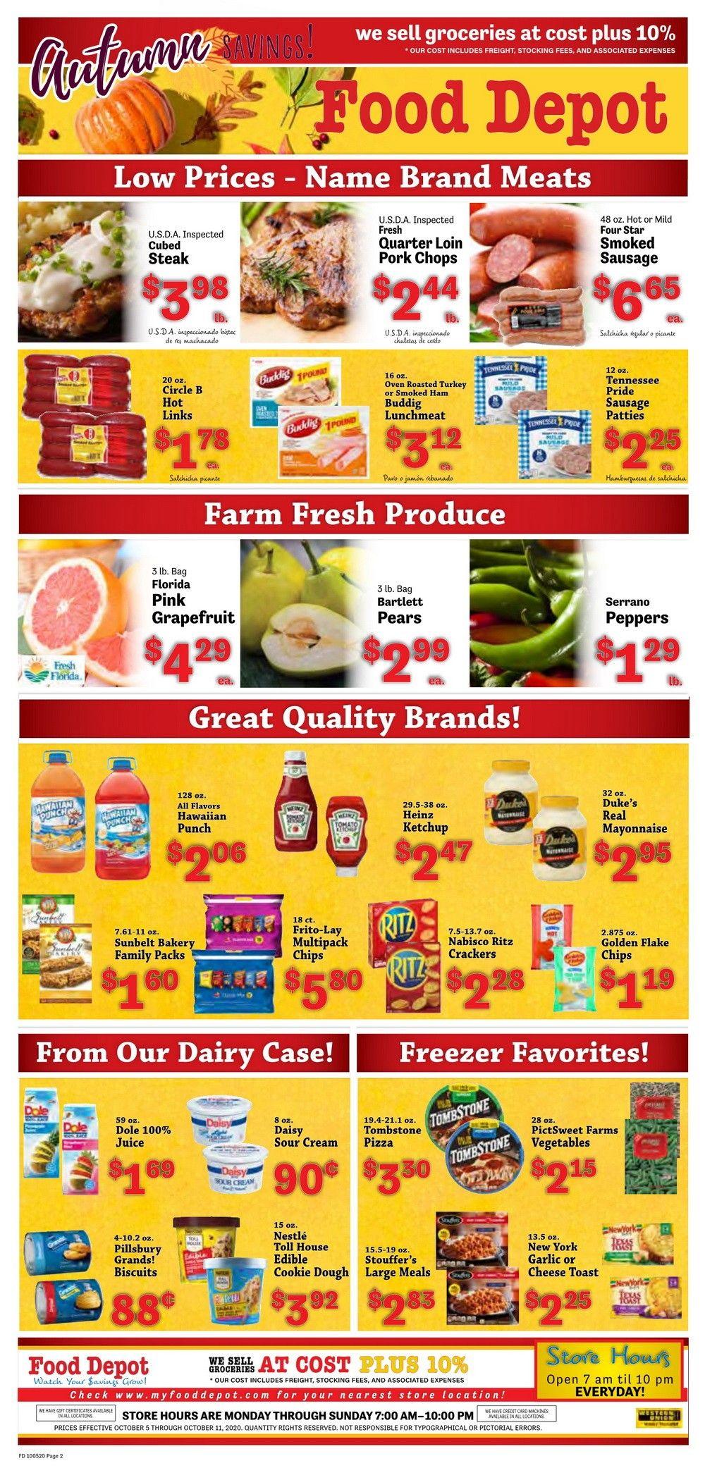 Food Depot Weekly Ad Oct 05 - Oct 11, 2020