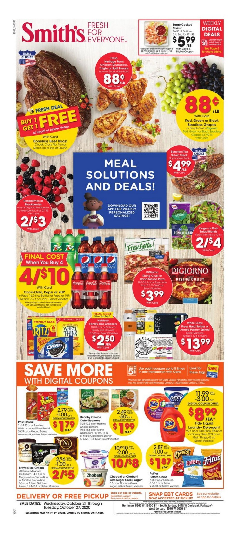 Smith's Food and Drug Weekly Circular Oct 21 - Oct 27, 2020