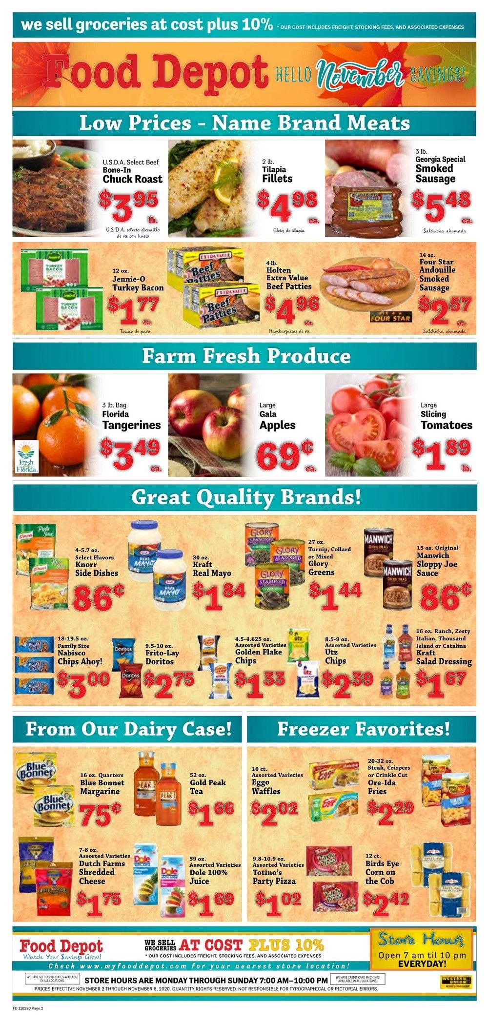 Food Depot Weekly Ad Nov 02 - Nov 08, 2020