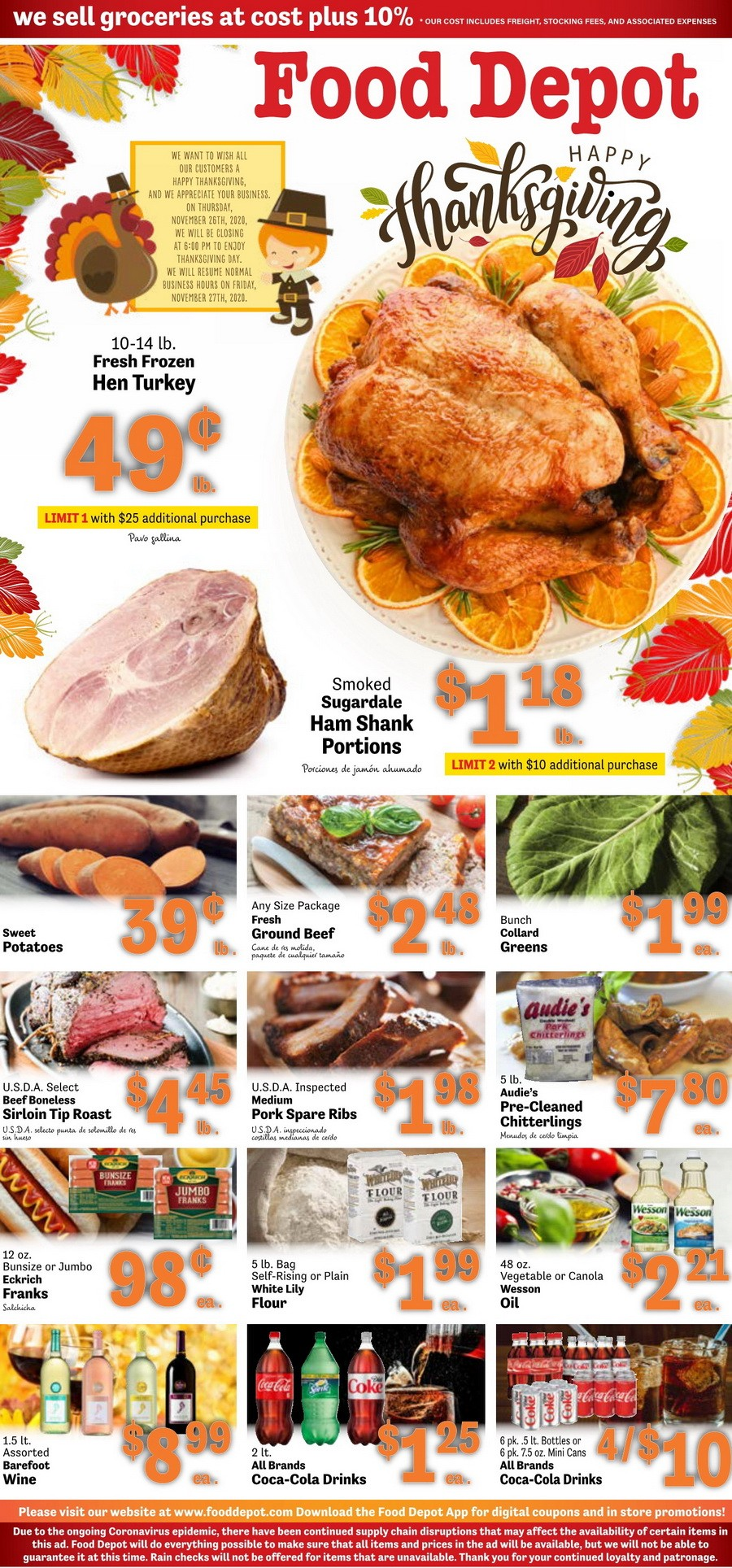 Food Depot Weekly Ad Nov 16 - Nov 29, 2020