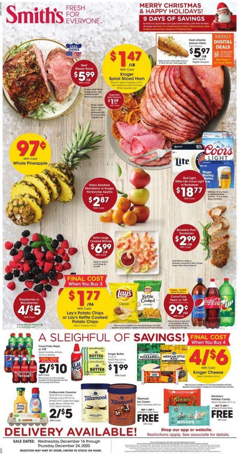 Smith's Food and Drug Weekly Circular Dec 16 - Dec 24, 2020