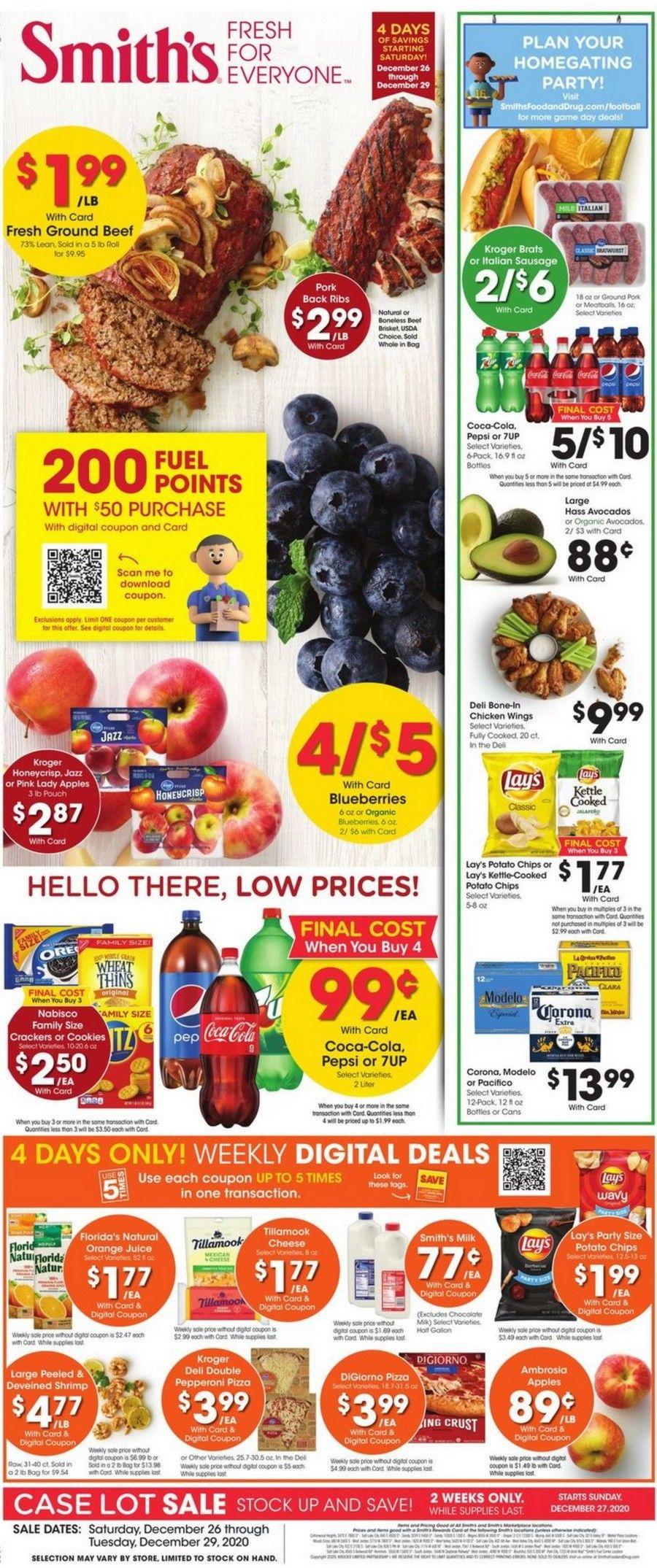 Smith's Food and Drug Weekly Circular Dec 26 - Dec 29, 2020